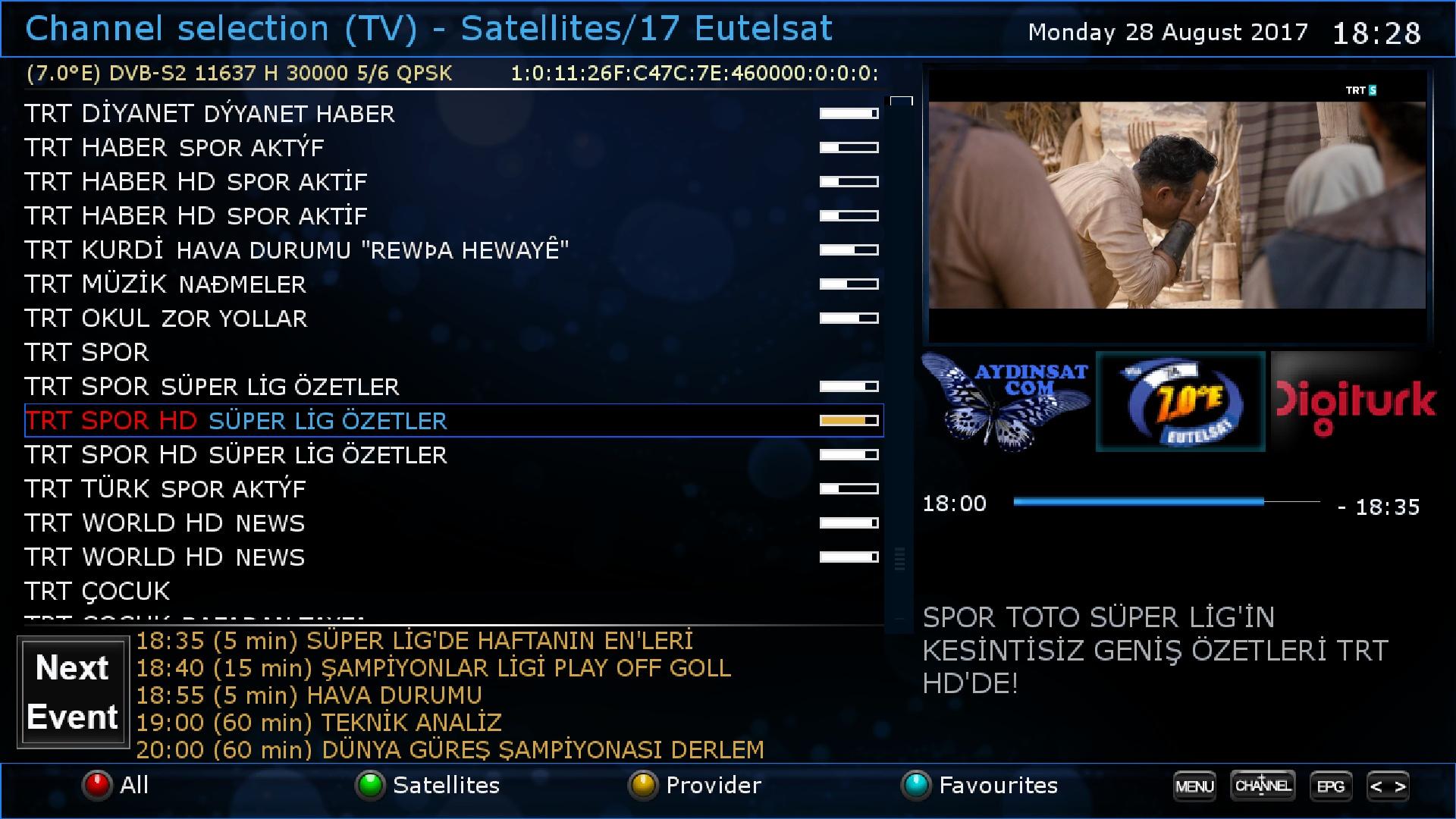 Aydinsat Powervu OpenPli 6 Vuplus Uno4K backup - Forum ~ LinuxSat
